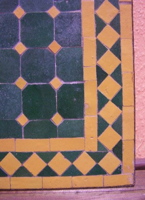 Mosaic Table Marrakesch Green/ Yellow, 100x60cm – image 2