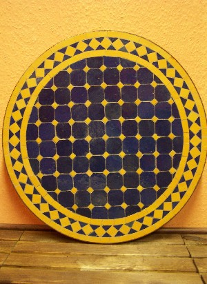 Mosaic Table marrakesch Blue/ yellow, 60cm – image 4