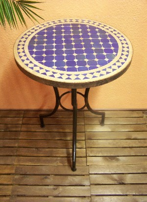 Mosaic Table marrakesch Blue/ nature, 60cm – image 1