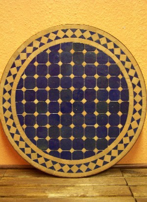 Mosaic Table marrakesch Blue/ nature, 60cm – image 5