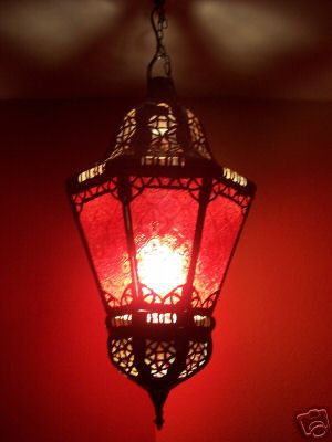 Moroccan Ceiling Light Ksar Red