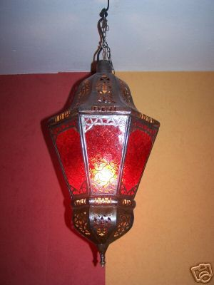 Moroccan Ceiling Light Ksar Red – image 2