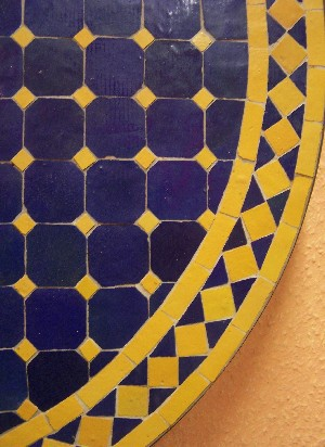 Mosaic Table marrakesch Blue/ Yellow, 80cm – image 2
