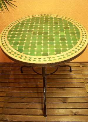 Mosaic Table marrakesch Green / Nature, 80cm – image 1