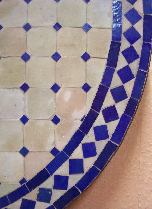 Mosaic Table marrakesch Nature/ Blue, 80cm – image 2