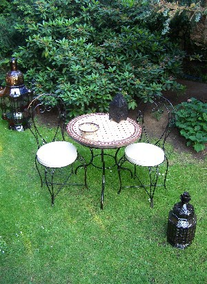 Mosaic Table marrakesch Nature/ Bordeaux, 80cm – image 5