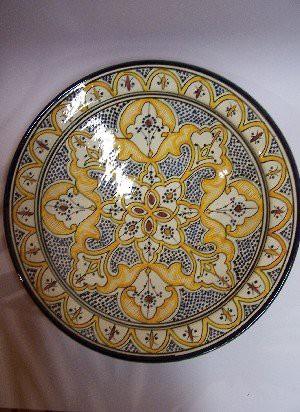 Oriental Ceramic Plate Amber – image 1