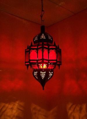 Moroccan Ceiling Lamp Alia Rot – image 3