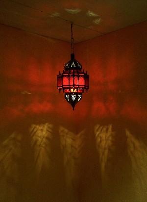 Moroccan Ceiling Lamp Alia Rot – image 4