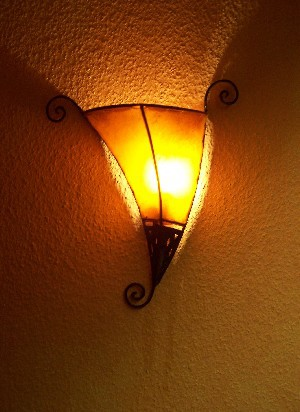 Mediterranean Wall Lamp Kurma Orange – image 2