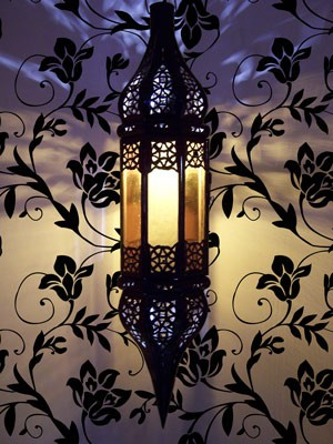 Moroccan Ceiling Lamp Rihana Orange – image 2