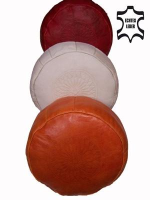 Moroccan Leather Seat Cushion Fes - Orange – image 5