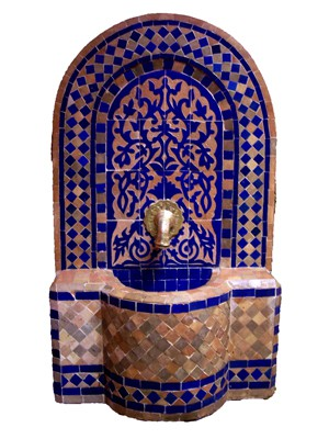 Mosaic Fountain Alba Blue, 85cm – image 1