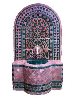 Mosaic Fountain Alba Green, 85cm – image 1
