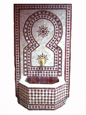Mosaic Fountain Estrella Bordeaux, 110cm – image 1