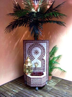 Mosaic Fountain Estrella Bordeaux, 110cm – image 3