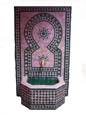 Mosaic Fountain Estrella Green, 110cm – image 1