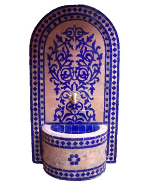Mosaic Fountain Granada Blue, 120cm – image 1