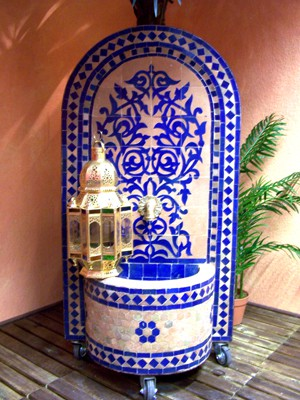 Mosaic Fountain Granada Blue, 120cm – image 2