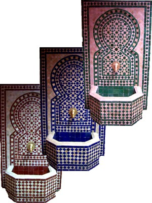 Mosaic Fountain Alhambra Blue, 110cm – image 5