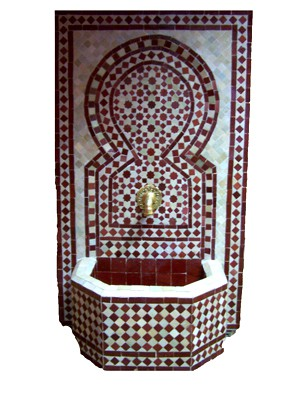 Mosaic Fountain Alhambra Bordaux, 110cm – image 1