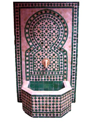 Mosaic Fountain Alhambra Green, 110cm – image 1