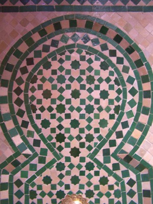 Mosaic Fountain Alhambra Green, 110cm – image 3