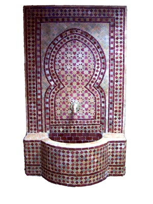 Mosaic Fountain Sevilla Bordaux, 135cm – image 1