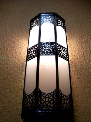 Moroccan Wall Light Rihana white – image 3