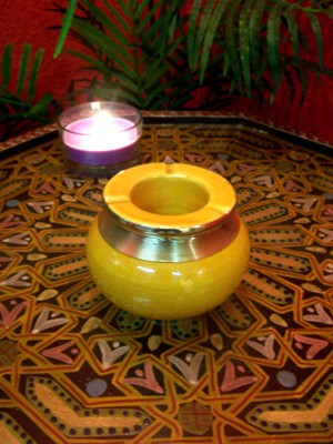 Moroccan Ashtray Cariba - Yellow – image 3