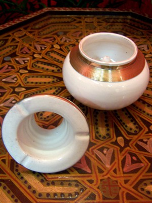 Moroccan Ashtray Cariba - White – image 2