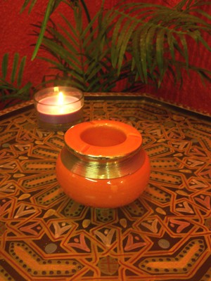 Moroccan Ashtray Cariba - Orange – image 3