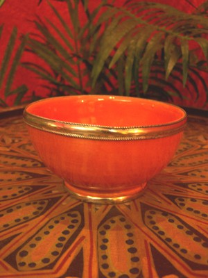 Oriental Ceramic Bowl Cariba - Orange – image 2