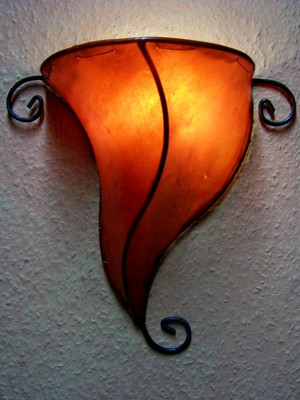 Arabic Wall Lamp Marrakesch Orange – image 1
