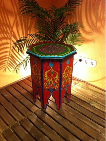 Moroccan wooden Table Kalif rot – image 2