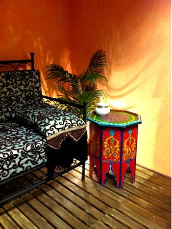 Moroccan wooden Table Kalif rot – image 5