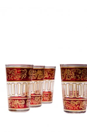 6x Tea Glass Lamia red – image 2