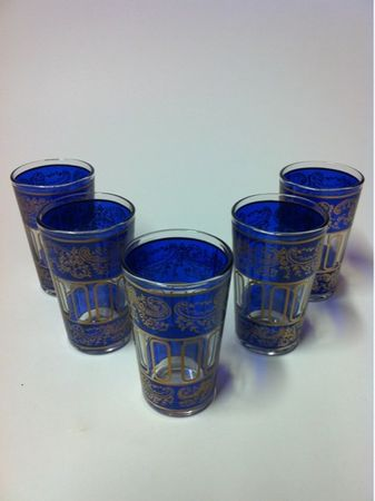 6 pieces Tea Glass Lamia blue – image 5