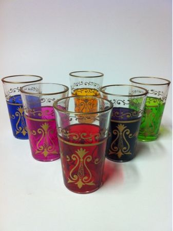 6x Tee Glass Arab (various colors) – image 1