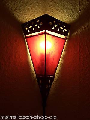 Mediterranean Wall Lamp Rabat Red