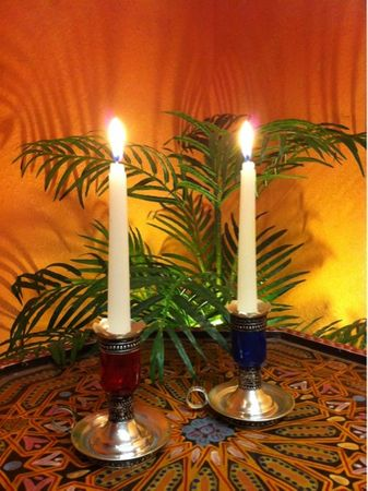 Oriental Candle Stand Ara - Blue – image 4