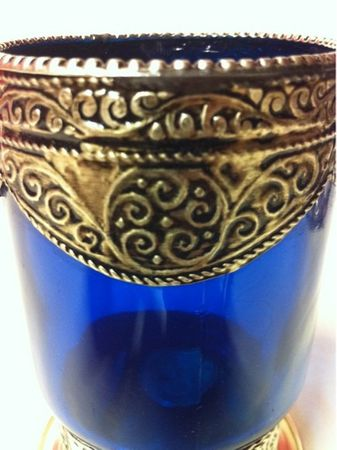 Moroccan Candle Stand Senia - Blue – image 2