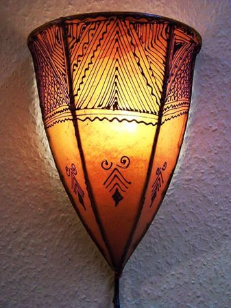 Arabic Wall Lamp Maya Orange – image 1
