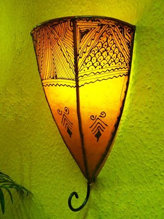 Arabic Wall Lamp Maya Orange – image 2