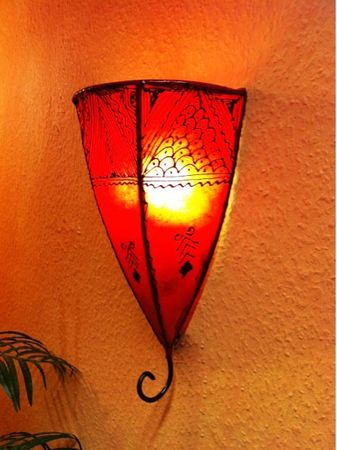 Oriental Wall Lamp Maya Red – image 3