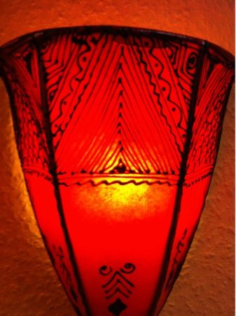 Oriental Wall Lamp Maya Red – image 4
