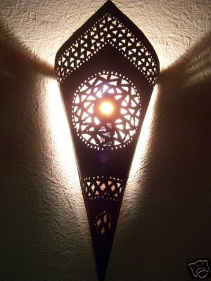 Moroccan Wall Lamp Fatma orange – image 1