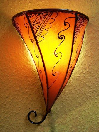 Moroccan Wall Light Farhad Orange – image 1