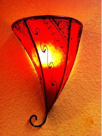 Moroccan Wall Lamp Farhad Rot – image 1
