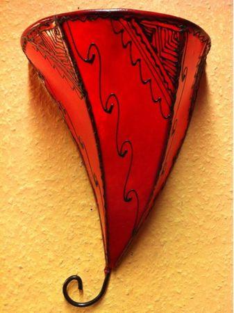 Moroccan Wall Lamp Farhad Rot – image 5